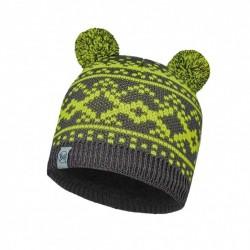 Child Knitted & Polar Hat Buff Novy Grey Castlerock